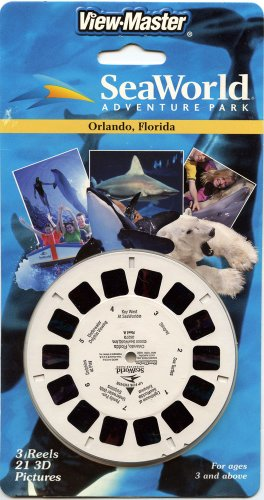 Sea World Adventure Park - Orlando, Florida - Classic Viewmaster - 3 Reels On Card - New