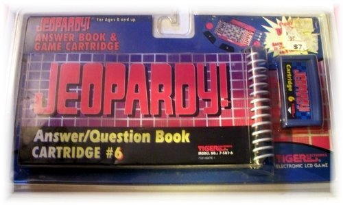 Jeopardy Answer/Question Book &Amp; Cartridge #6 For Electronic Lcd Handheld Game By Tiger