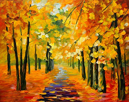 [ Wooden Framed ] Diy Oil Painting Paint By Number Kit For Adults Kids Romantic Love Autumn (3) 16X20 Inch