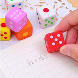 Jzk 24 Novelty Little Rubber Toy Dice Pencil Eraser Set For Children Party Favours Kids Birthday Party Bag Filler Birthday Gift For Girl Boy Student