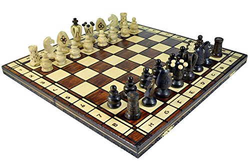 Wegiel Royal 48 European Wooden Handmade International Chess Set