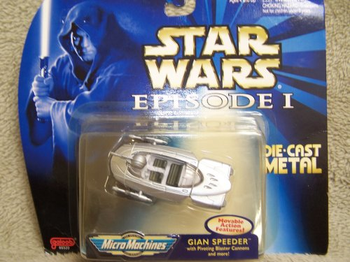 Star Wars - Episode 1 - Gian Speeder - Micro Machines - Die Cast Metal - Galoob - Mint - Limited Edition - Collectible