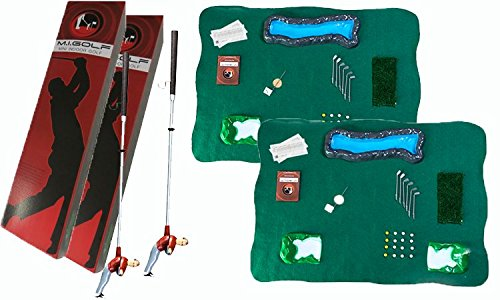 Set Of Two Mini Indoor Golf Player Packs