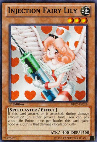 Yu-Gi-Oh! - Injection Fairy Lily (Bp02-En018) - Battle Pack 2: War Of The Giants - 1St Edition - Rare