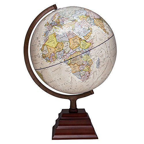 Waypoint Geographic Peninsula 12 Inch Globe With Stand - Over 4,000 Up-To-Date Points Of Interest - Pagoda Style Stand &Amp; Politically Styled World Globe For Home, Office &Amp; Classroom