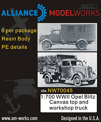 Alliance Model Works 1:700 Wwii Opel Blitz Canvas Top & Workshop Truck #Nw70045