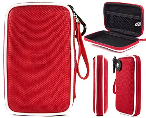 Red Eva Portable Headphone Case For Panasonic Ergofit In-Ear Earbud Headphones