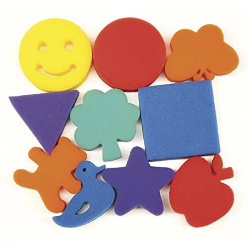 Pacon Familiar Shapes Paint Sponge Set