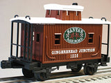 Lionel Gingerbread Junction Bobber Caboose Train 6-30219 Car 6-25927 New