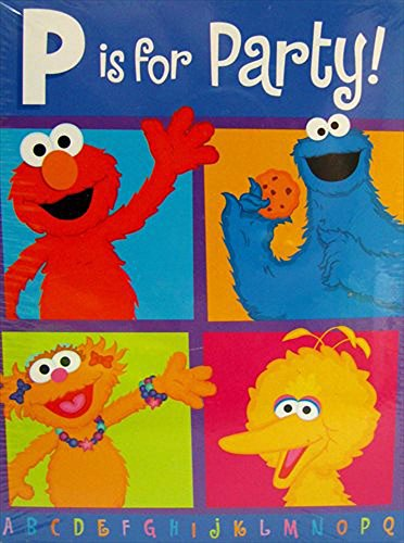 Sesame Street 'P Is For Party' Invitations And Thank You Notes W/ Env. (8Ct Each)