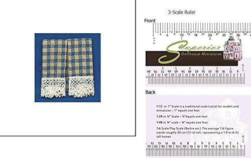Dollhouse Dish Towels: Country Blue (2)