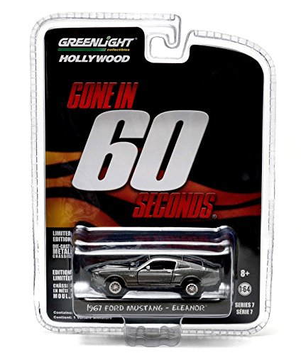 1967 Ford Mustang  Eleanor  From The 2000 Thriller Gone In 60 Seconds * Gl Hollywood Series 7 * 2014 Greenlight Collectibles Limited Edition 1:64 Scale Die Cast Vehicle