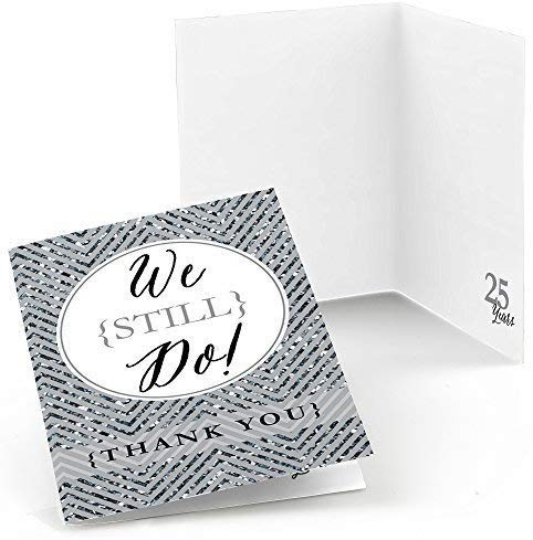 Big Dot Of Happiness We Still Do - 25Th Wedding Anniversary - Party Thank You Cards (8 Count)