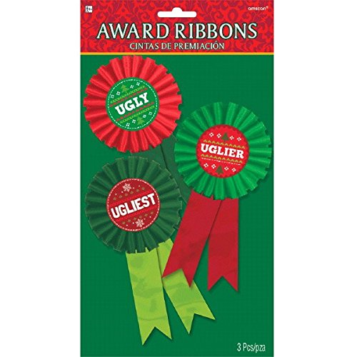 Ugly Ribbon Awards, 3 Ct. | Christmas Supply