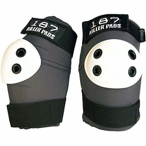 187 Killer Pads Elbow Pads (Grey/White, Large)
