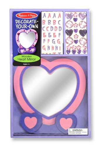 Melissa &Amp; Doug Decorate-Your-Own Wooden Heart Mirror Craft Kit