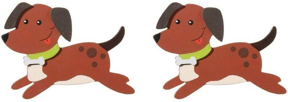 Darice Natural Wood Painted Puppy Dog Cutouts - 3 X 4 Inches