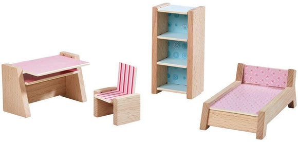 Haba Little Friends Teenager'S Room - Wooden Dollhouse Furniture For 4