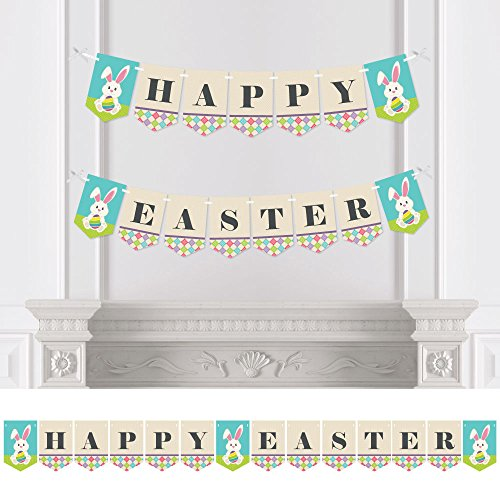 Hippity Hoppity - Easter Party Bunting Banner - Easter Party Decorations - Happy Easter
