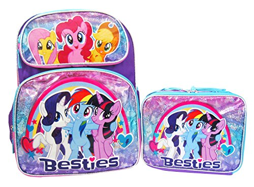 My Little Pony 16  Backpack And Lunch Box Set