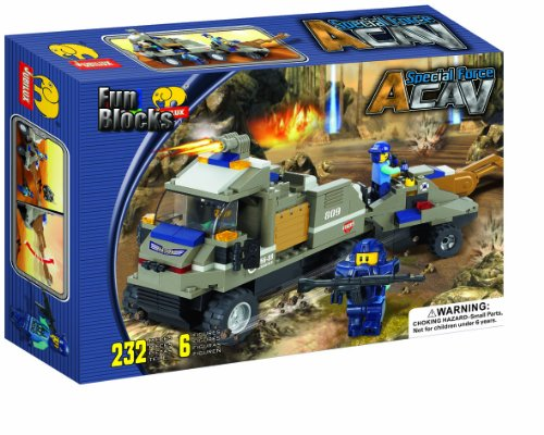 Fun Blocks 'Special Forces' Military Brick Set B 232 Pieces (J5612)