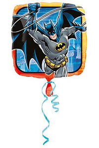 Batman Birthday Party Balloon Package -Includes (2)18 Square Mylar (3Ea)12 Blue/Yellow Latex By Anagram