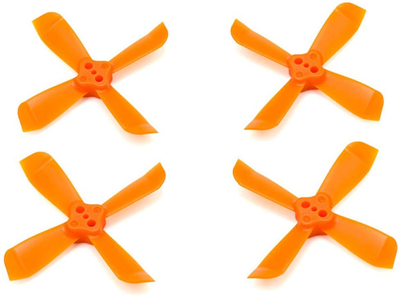 8 Pairs Hi-Performance Pc Material Prop 2035 Fpv 4 Blade Propeller Cw/Ccw For Dys Shark Mako Micro Drone(Orange)