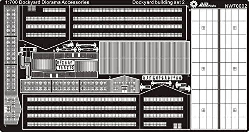 Alliance Model Works 1:700 Dockyard Diorama Accessories Building Set 2 #Nw70002