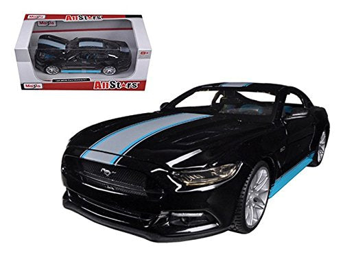 2015 Ford Mustang Gt 5.0 Black Custom 1/24 By Maisto 31369