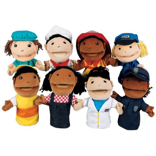 Kaplan Occupation Puppets (Set Of 8)