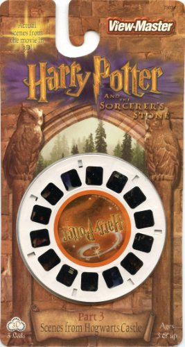 Harry Potter And The Sorcerer'S Stone Part 3 - Scenes From Hogwart'S Castle - Classic Viewmaster - 3 Reels On Card - New