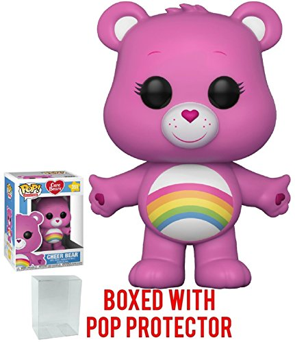 Funko Pop! Animation: Care Bears - Cheer Bear Vinyl Figure (Bundled With Pop Box Protector Case)