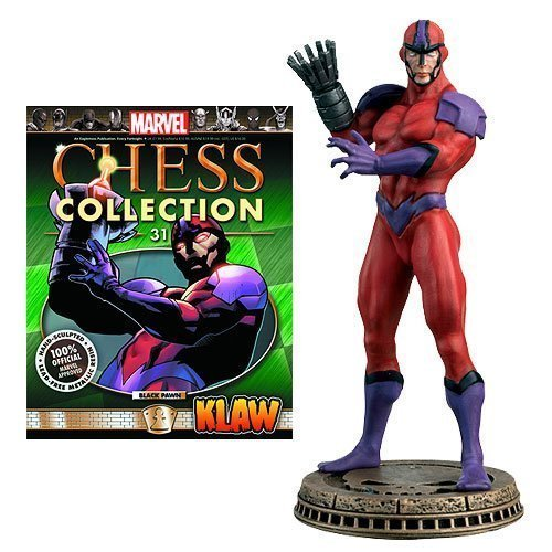 Marvel Chess Figurine Collection Magazine #31 Klaw - (Black Pawn)