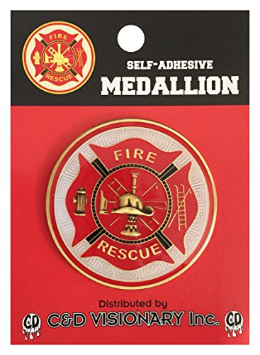 Licenses Products Fireman  Self-Adhesive Medallion