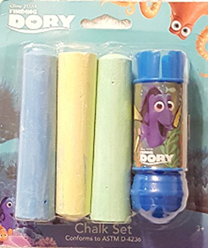 Finding Dory 4 Piece Chalk Set - 1 Chalk Holder &Amp; 3 Pieces Of Jumbo Chalk