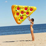 180*150 Cm Swimming Float Giant Yellow Inflatable Pizza Slice Floating Bed Raft Air Mattress Water Toy