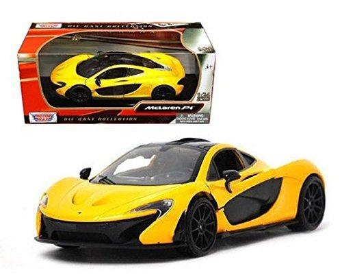 Motormax Collection Mclaren P1 1/24 Diecast Model Car Yellow