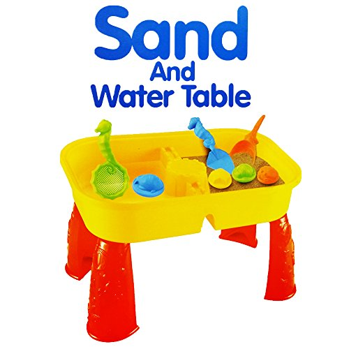 Fapajo - Educational Sand And Water Table Beach Play Set With Sand Strainer For Kids!