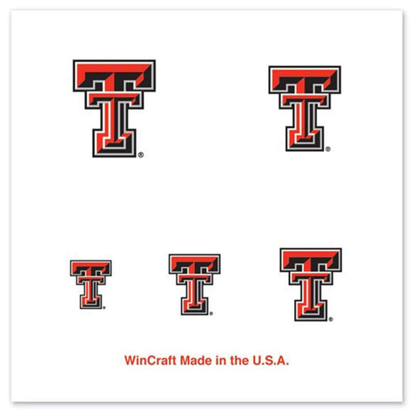 Texas Tech Red Raiders Fingernail Tattoos -