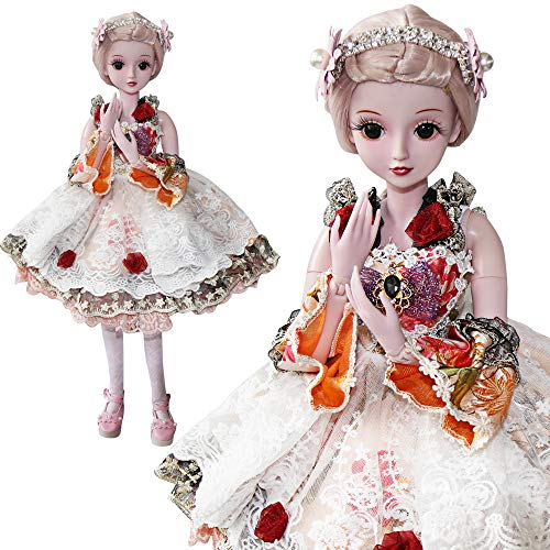 Ucanaan 23.6'' 1/3 Bjd Sd Doll 19 Ball Joints Dolls With Clothes Outfit Shoes Wig Hair Makeup For Girls Gift And Dolls Collection-Camilla