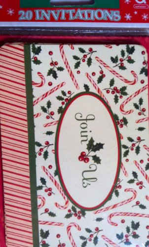 Christmas Holiday Invitations With Envelopes 20Ct