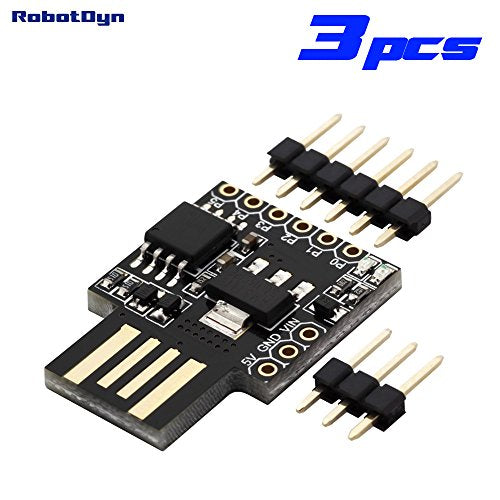Robotdyn - 3 Pcs - Digispark Attiny85 Usb-A Developing Board