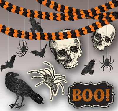Amscan Spooky Creatures | Halloween Room Decorating Kit