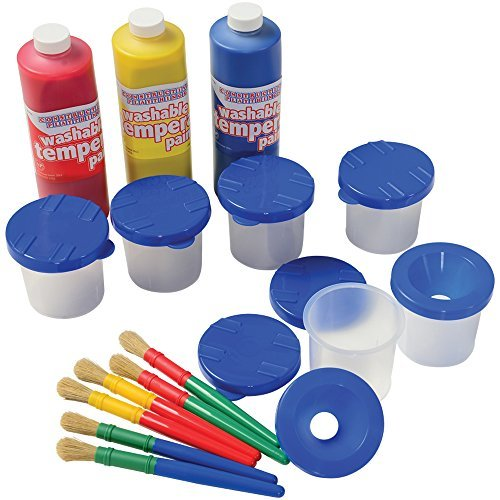 Cp Toys Beginners Paint Set With Brushes, Paints, And Cups, 15 Pieces