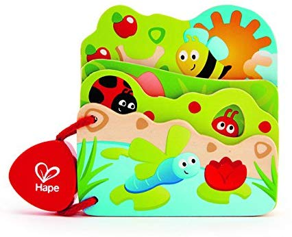 Hape Infant Board Book Baby'S Bug Book