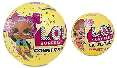 L.O.L. Surprise Set Of 2, Includes 1 Lol Confetti Popseries 3 Ball And 1 Lol Lil Sistersseries 3 Ball