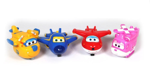 Super Wings [Soft Water Gun 4Pcs] Korean Tv Animation Bath Toy
