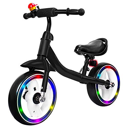 Verkstar Kids Balance Bike No Pedal Walking Sport Bicycle, Adjustable Training Toddler Bike For 2 To 6 Year Old Boys &Amp; Girls (Black)