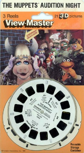 The Muppets Audition Night - Classic Viewmaster 3Reel Set