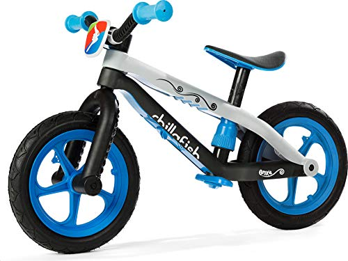 Chillafish Bmxie 2, Fixie Fixed-Gear Styled Balance Bike With Integrated Footrest, Footbrake And Airless Rubberskin Tires, Blue